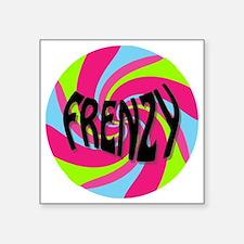 "Frenzy_circle_t_shirt2 Square Sticker 3"" x 3"""