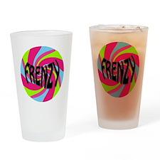 Frenzy_circle_t_shirt2 Drinking Glass