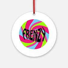 Frenzy_circle_t_shirt2 Round Ornament