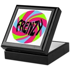 Frenzy_circle_t_shirt2 Keepsake Box