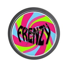 Frenzy_circle_t_shirt2 Wall Clock