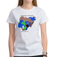 Nigeria language map copy Tee