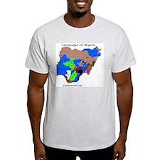 Nigeria language map copy T-Shirt