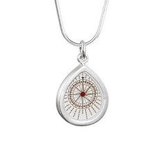 #V-62 ORN O copy Silver Teardrop Necklace
