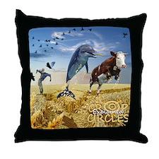 Crop Circles Explained Throw Pillow