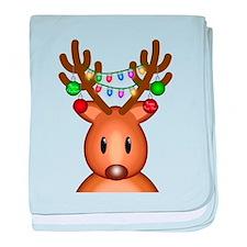 Christmas Deer baby blanket