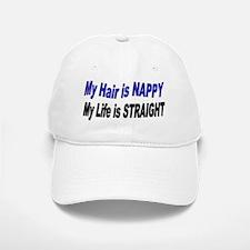 Life is Straight Baseball Baseball Cap