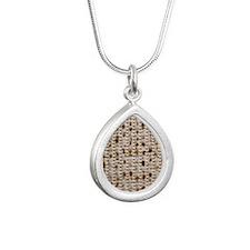 matzoh, 15MB, thong Silver Teardrop Necklace