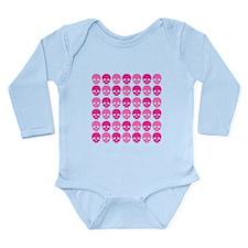 Pink Skulls Long Sleeve Infant Bodysuit
