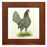 Blue OE Hen Framed Tile