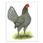 Blue OE Hen Small Poster