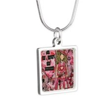 grateful Silver Square Necklace
