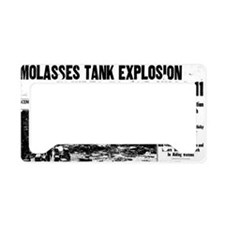 Molasses Boston globe BIG License Plate Holder