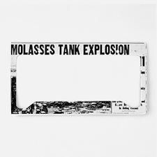 Molasses Boston globe BIG License Plate Holder