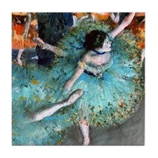 iPad Degas GreenD Tile Coaster