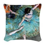 Green fine art Throw Pillows