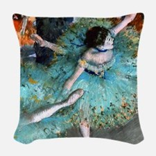 iPad Degas GreenD Woven Throw Pillow