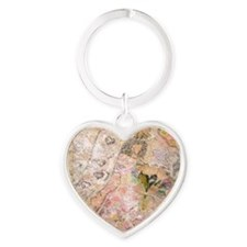 carolyn the bride Heart Keychain