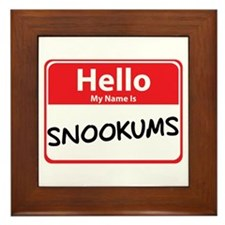 Hello My Name is Snookums Framed Tile