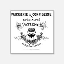 "Patisserie-Sign Square Sticker 3"" x 3"""