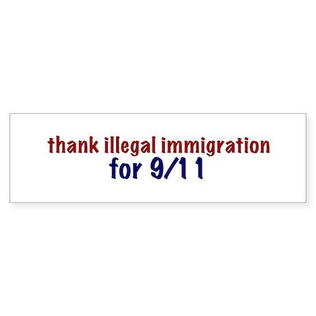 Thank Illegal Immigration Bumper Sticker