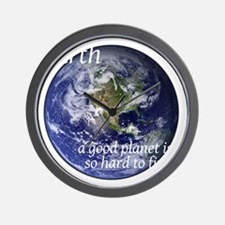 GoodPlanet-2-whiteLetters copy Wall Clock