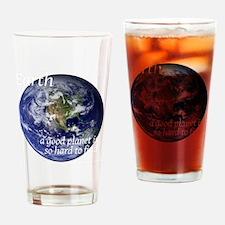 GoodPlanet-2-whiteLetters copy Drinking Glass