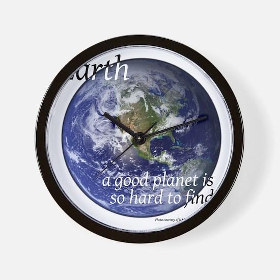 GoodPlanet-2-blackLetters copy Wall Clock