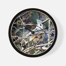 TuftedTitmouse10x8 Wall Clock