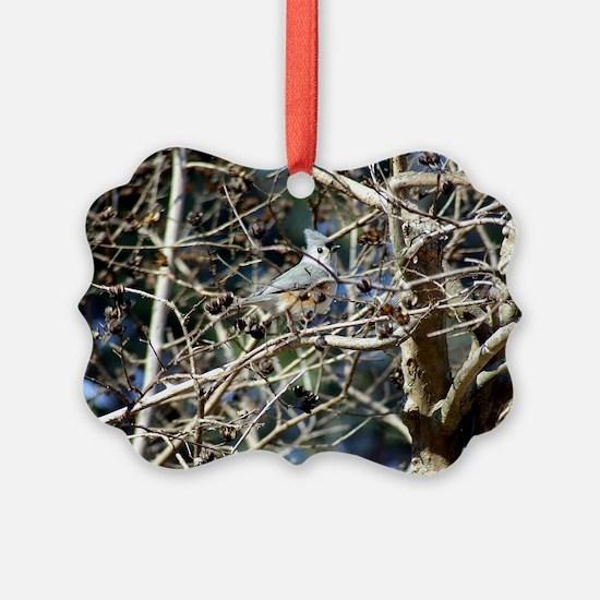 TuftedTitmouseLaptop Ornament