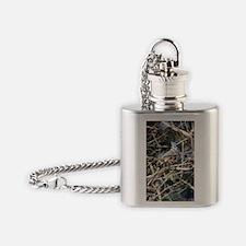 TuftedTitmouseLargeBottle Flask Necklace