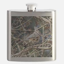TuftedTitmouseSquareFB Flask