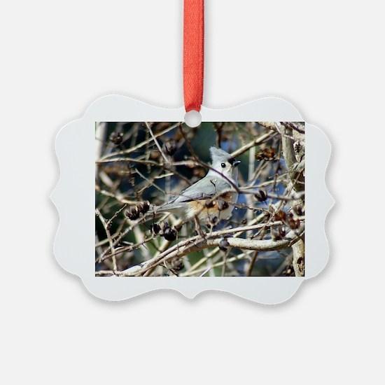 TuftedTitmouseTravel Ornament