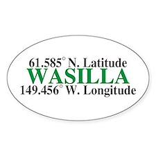 Wasilla Latitude Oval Decal