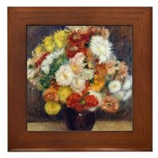 Pillow Renoir Chrysanthemums Framed Tile