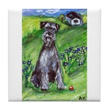 Schnauzer country Tile Coaster