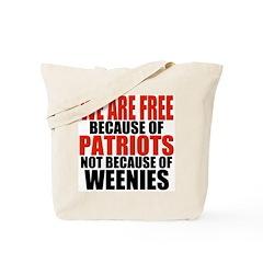 Free because of Patriots Tote Bag