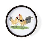 Blue-tail Buff OE Wall Clock