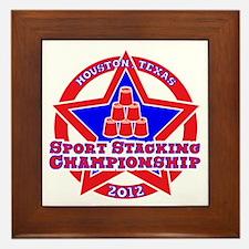 on blk Texas Championship Framed Tile