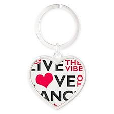 livetodance3 Heart Keychain