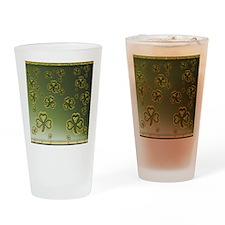 King Duve Gold and Green Shamrocks Drinking Glass