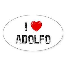 I * Adolfo Oval Decal