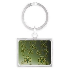 King Duve Gold and Green Shamro Landscape Keychain