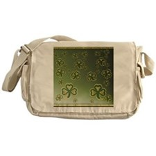 King Duve Gold and Green Shamrocks Messenger Bag