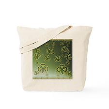 King Duve Gold and Green Shamrocks Tote Bag