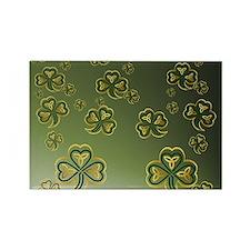 King Duve Gold and Green Shamrock Rectangle Magnet