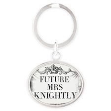 Future Mrs Knightly Mug Ornate Oval Keychain