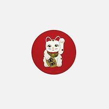 Maneki Neko Cat Mini Button