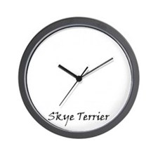 skye terrier white Wall Clock