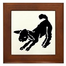 Gamboling Lamb Framed Tile